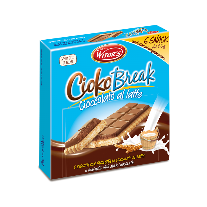 CiokoBreak con cioccolato al latte