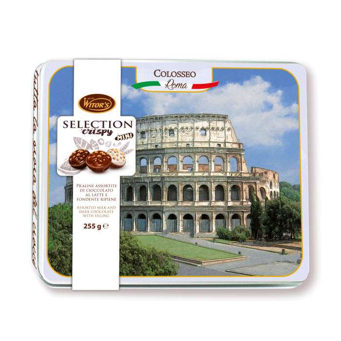 Selection Crispy MINI Mix – Confezione in latta Colosseo