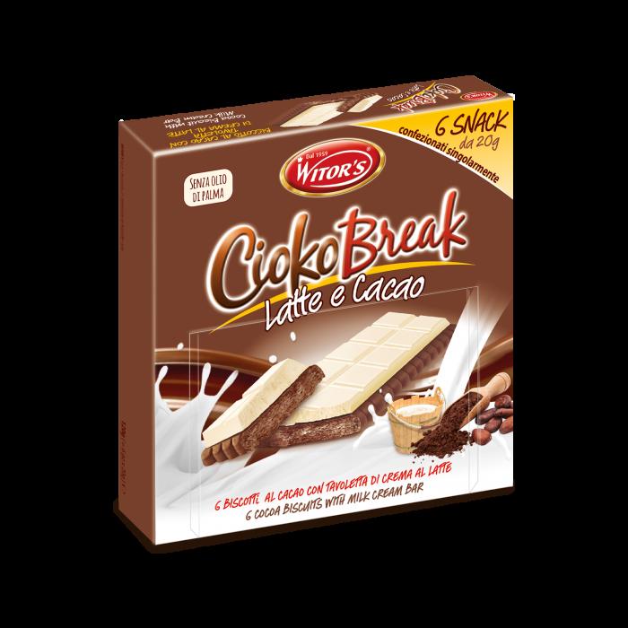 CiokoBreak con crema al latte e biscotto al cacao